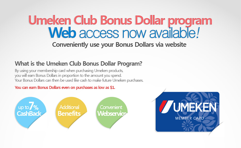 Umeken Club Bonus Dollar program