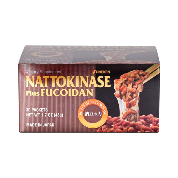 Nattokinase (plus Fucoidan) / 2 mth supply (60 packets)
